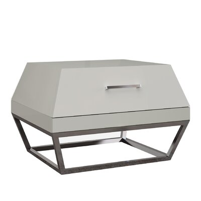 Angulatus 1 Drawer Nightstand Finish: Taupe
