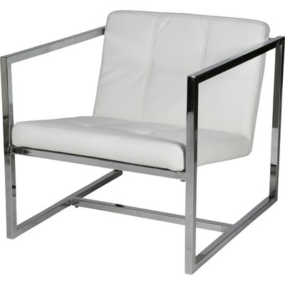 Lisa Armchair Upholstery: White
