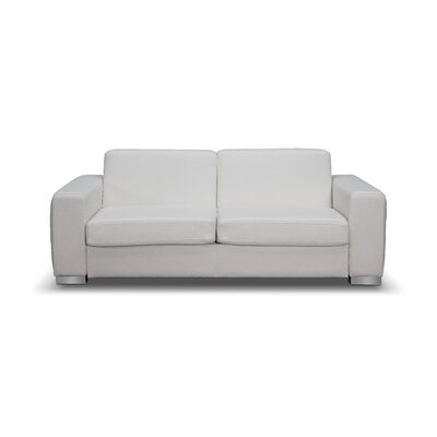 Alfa Sleeper Sofa Upholstery: White