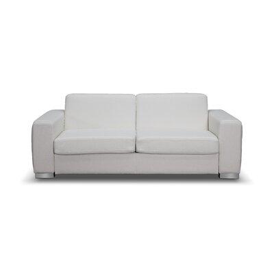 Alfa Sleeper Sofa Upholstery: White
