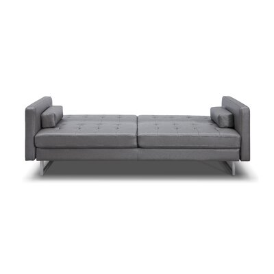 Giovanni Sleeper Sofa Upholstery: Grey, Leg Finish: Stainless Steel