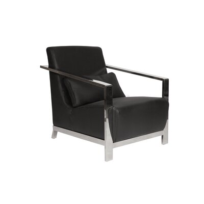 Erika Arm Chair Upholstery: Black