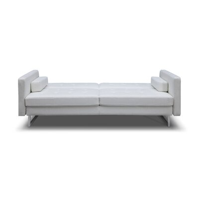 Giovanni Sleeper Sofa Upholstery: White, Leg Finish: Chrome