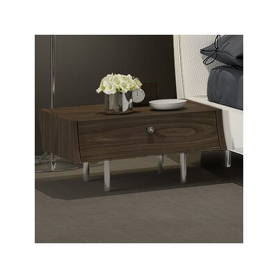 Concavo Nightstand Finish: Walnut