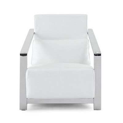 Erika Arm Chair Upholstery: White
