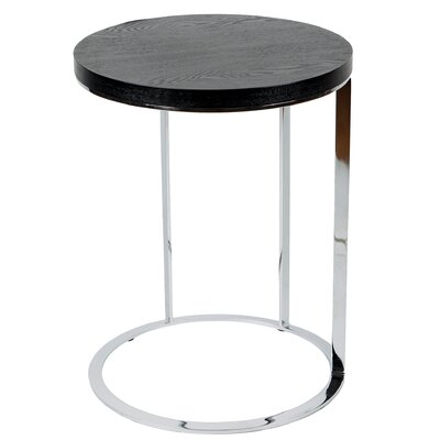 Julia Side Table Color: Black Veneer