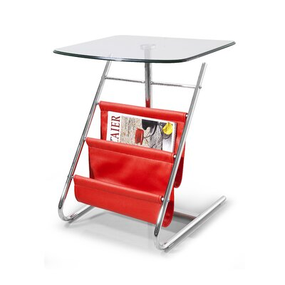 Bob End Table Color: Red