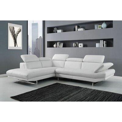 SL1351L-WHT Whiteline Imports White Sectionals