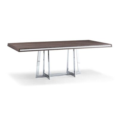 Georgie Dining Table Top Finish: Walnut/White