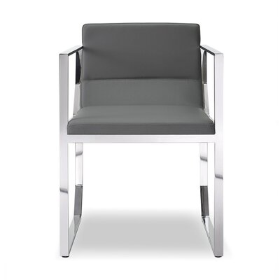 Ables Upholstered Dining Armchair Upholstery Color: Gray