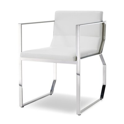 Ables Upholstered Dining Armchair Upholstery Color: White