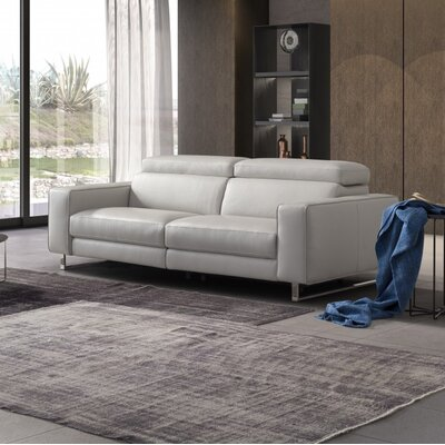 Abarca Reclining Loveseat Upholstery: White