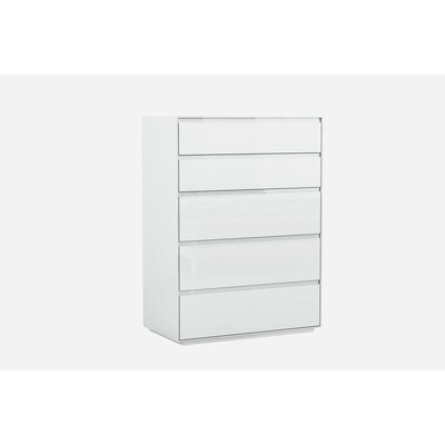 Barcroft 5 Drawer Chest Color: White
