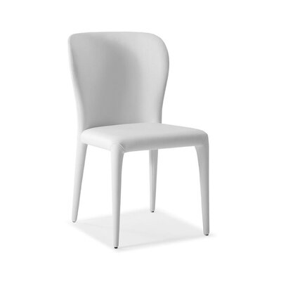 Tyerell Upholstered Dining Chair Color: White