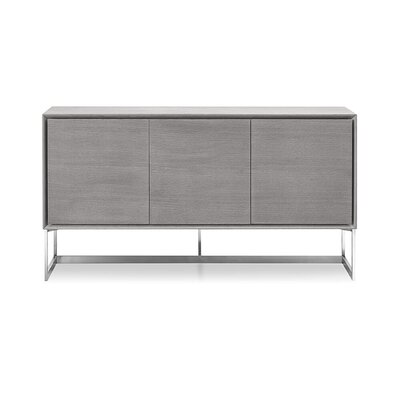 Leevell Buffet Table Upholstery: Gray