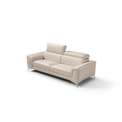 Mikayda Genuine Leather Sofa Upholstery: Taupe