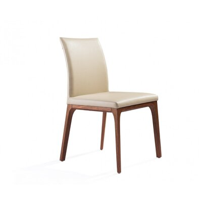 Dimartino Upholstered Dining Chair Color: White/Taupe
