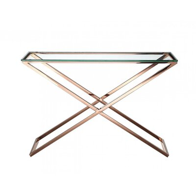 Bradi Console Table Table Base Color: Gold
