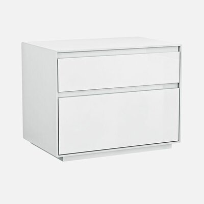 Barcroft 2 Drawer Nightstand Color: White