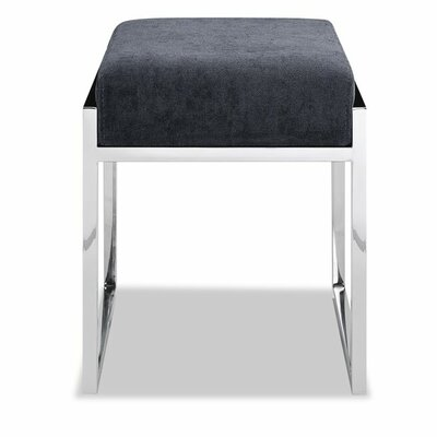 Ayako Stainless Steel Ottoman Upholstery: Charcoal