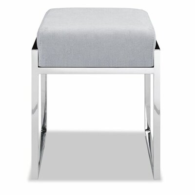 Ayako Stainless Steel Ottoman Upholstery: Light Gray
