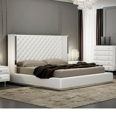 Aesara Upholstered Panel Bed Size: King