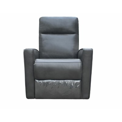 Mccay Manual No Motion Recliner Upholstery: Dark Gray