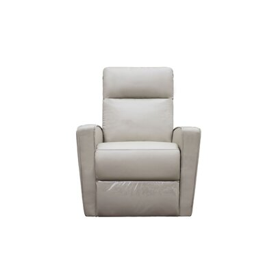 Mccay Manual No Motion Recliner Upholstery: Light Gray