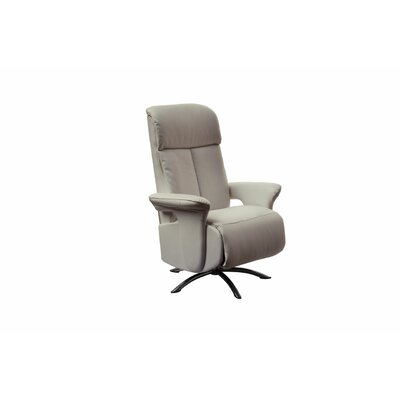 Mcclaran Leather Manual No Motion Recliner Upholstery: Gray