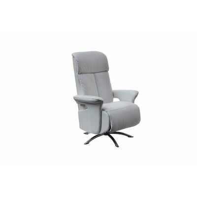 Mcclaran Leather Manual No Motion Recliner Upholstery: White