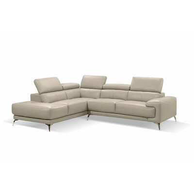 Mcclary Modern Leather Sectional