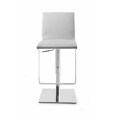 Gia Adjustable Height Swivel Bar Stool Upholstery: Gray