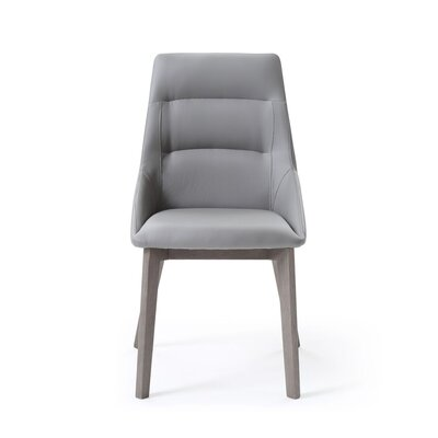 Eastland Upholstered Dining Chair (Set of 2) Uphlostery Color: Gray