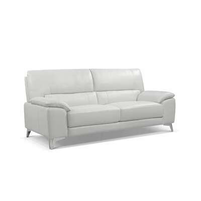 Podington Leather Sofa Upholstery: White