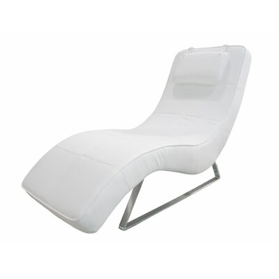 Whiteline Imports Soho Chaise - Color: White at Sears.com