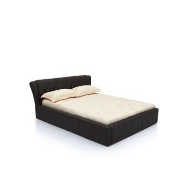 Upholstered Platform Bed Size: King, Upholstery: Black