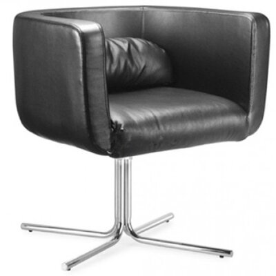 Maria Barrel Chair Upholstery: Black