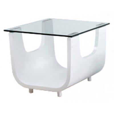 Saly Side Table Finish: High Gloss White