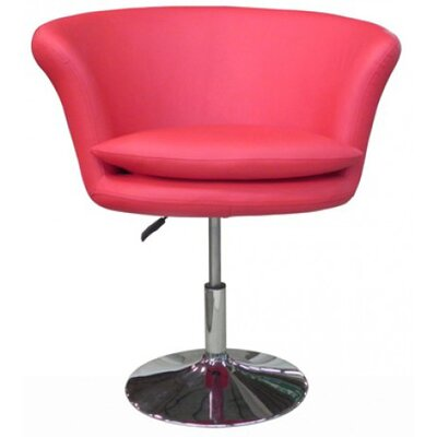 Kristina Arm Chair Upholstery: Red