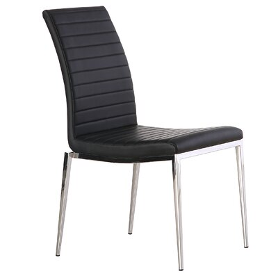 Zoe Dining Chair Upholstery: Black