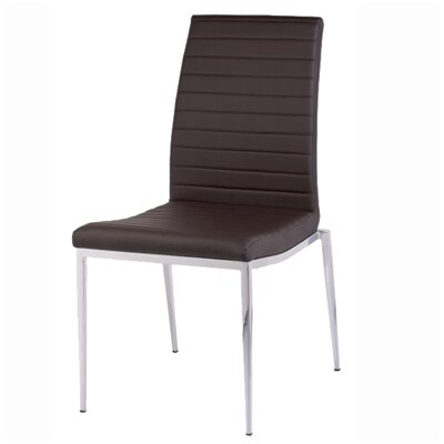 Zoe Dining Chair Upholstery: Chocolate