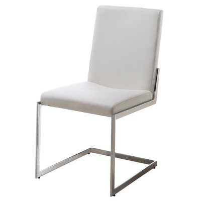Chily Upholstered Dining Chair (Set of 2) Upholstery: White
