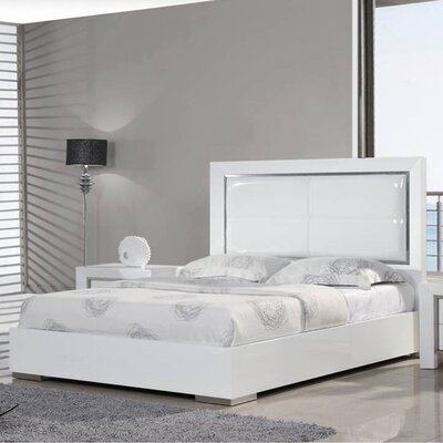 Ibiza Upholstered Panel Bed Size: Queen