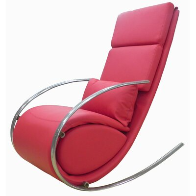 Whiteline Imports Chloe Rocker Chair and Ottoman - Color: Red at Sears.com