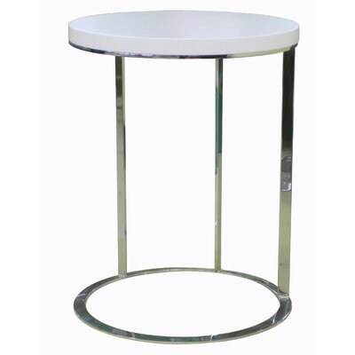 Julia Side Table Color: White