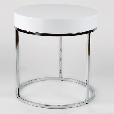 Mog Side Table Color: White