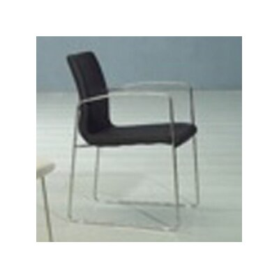 Marco Dining Arm Chair (Set of 2) Upholstery: Black