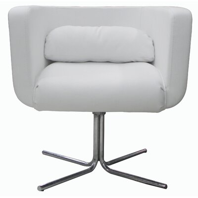 Maria Barrel Chair Upholstery: White
