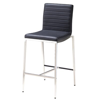 Lily 26 Bar Stool (Set of 2) Upholstery: Black
