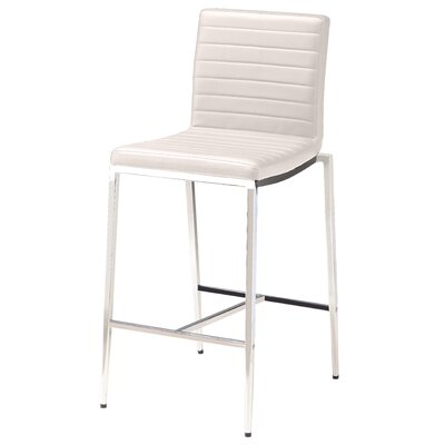 Lily 26 Bar Stool (Set of 2) Upholstery: White